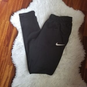 Nike black Dri-Fit pants with zippers-size M